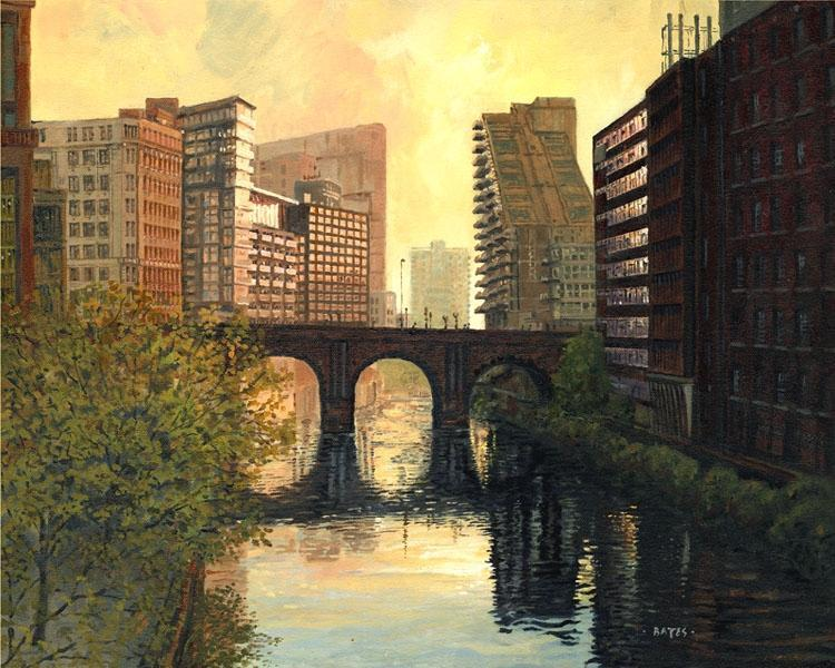 The bridge on the river Irwell attained Grade 2 listing in 1988.