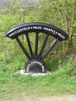 �Middlewood Way Milepost� one of six on Route 55 on the National Cycle Network between Macclesfield and Marple, commissioned by Macclesfield Borough Council.
